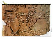 Sumerian Map, Clay Cuneiform Tablet Carry-all Pouch