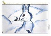 Sumi-e Snow Bunny Carry-all Pouch