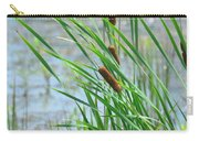 Summer Cattails In The Breeze Carry-all Pouch