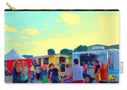 Summer Family Fun Paintings Of Food Truck Art Roadside Eateries Dad Mom And Little Boy Cspandau Carry-all Pouch