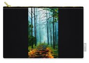 Summer Forest - Palette Knife Oil Painting On Canvas By Leonid Afremov Carry-all Pouch