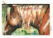 Horse Painting In Watercolor Summer Horse Carry-all Pouch