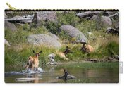 Summer Morning Dip - Elk In Yellowstone National Park - Wyoming Carry-all Pouch