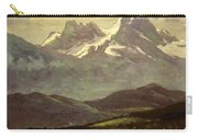 Summer Snow On The Peaks Or Snow Capped Mountains Carry-all Pouch