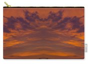 Summer Sunrise Over Jackson Michigan Mirror Image Carry-all Pouch