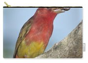 Summer Tanager Eating Wasp Carry-all Pouch
