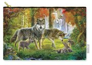 Summer Wolf Family Carry-all Pouch by Jan Patrik Krasny