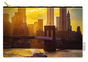 Summertime At The Brooklyn Bridge Carry-all Pouch