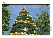 Summertime Christmas With Text Carry-all Pouch by Kaye Menner