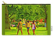 Summertime Walk Through The Beautiful Tree Lined Park Montreal Street Scene Art By Carole Spandau Carry-all Pouch