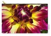 Sun Burst Purple Dahlia Carry-all Pouch