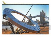 Sun Dial And Tower Bridge London Carry-all Pouch