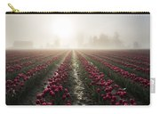 Sun In Fog And Tulips Carry-all Pouch