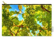Sun Kissed Green Grapes Carry-all Pouch by Eti Reid