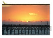 Sun In Clouds Over Pier Carry-all Pouch