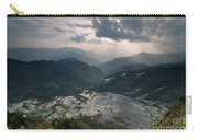 Sun Ray Over Rice Terrace Filed Carry-all Pouch
