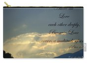 Sun Rays 1 Peter Chapter 4 Verse 8 Carry-all Pouch