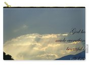 Sun Rays Ecclesiastes Chapter 3 Verse 11 Carry-all Pouch