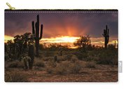 Sun Rays Over The Sonoran Desert  Carry-all Pouch
