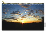 Sun Setting Behind The Mountains Carry-all Pouch
