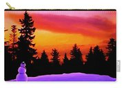 Sun Setting On Snow Carry-all Pouch by Sophia Schmierer