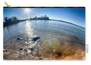 Sun Shining Over Lake Wylie In North Carolina Carry-all Pouch