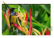 Sunbird On Heliconia Ginger Flowers Singapore Carry-all Pouch
