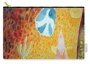 Sunburst, 1989 Wc On Paper Carry-all Pouch