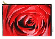 Sunburst On Red Rose With Framing Carry-all Pouch