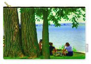Sunday Picnic On The Lake Maple Trees At The Canal Pte Claire Montreal Waterscene Carole Spandau Carry-all Pouch
