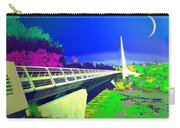 Sundial Bridge Redding  Ca Digitally Painted Carry-all Pouch