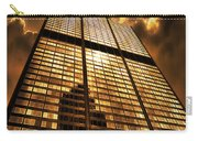 Sundown At Willis Sears Tower Carry-all Pouch