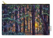 Sundown In Woods Carry-all Pouch