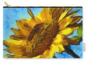Sunflower Abstract Carry-all Pouch by Unknown