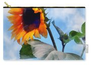Sunflower Against The Sky Carry-all Pouch by Susan Savad
