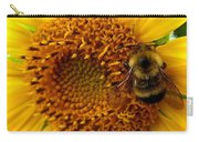 Sunflower And A Bee Carry-all Pouch