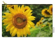 Sunflower And Bee II Carry-all Pouch