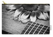 Sunflower And Guitar Carry-all Pouch