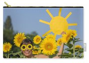 Sunflower And Sun Carry-all Pouch