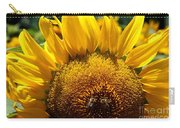 Sunflower And Two Bees Carry-all Pouch