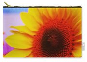 Sunflower At Beach Carry-all Pouch