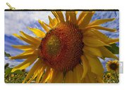 Sunflower Blue Carry-all Pouch by Debra and Dave Vanderlaan