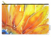 Sunflower Blue Orange And Yellow Carry-all Pouch