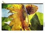 Sunflower Butterfly And Bee Carry-all Pouch