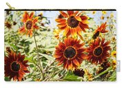 Sunflower Cluster Carry-all Pouch
