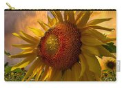 Sunflower Dawn Carry-all Pouch by Debra and Dave Vanderlaan