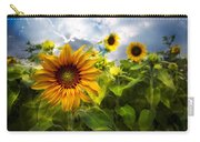 Sunflower Dream Carry-all Pouch by Debra and Dave Vanderlaan