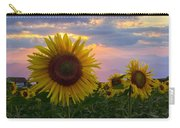 Sunflower Field Carry-all Pouch by Debra and Dave Vanderlaan