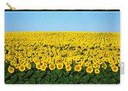 Sunflower Field, North Dakota, Usa Carry-all Pouch