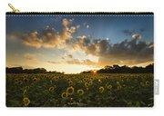 Sunflower Field Sunset Carry-all Pouch